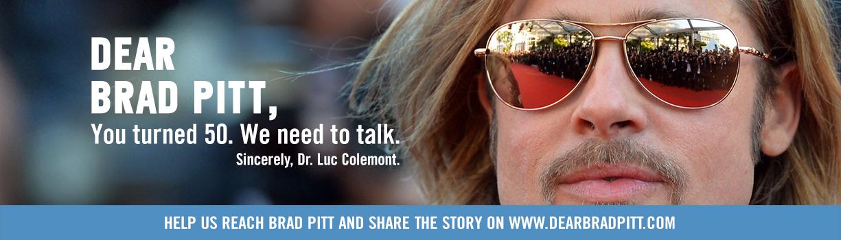 Brad Pitt banner