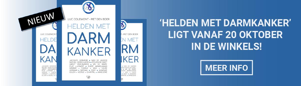 Boek 'Helden met darmkanker' op 20 oktober in de winkels.
